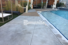 Earning the Bronze Award in 2017 for Best Bomanite Exposed Aggregate Project, our associate Bomanite of Tulsa, Inc., utilized Bomanite Alloy with Nickel Gray and Gobi Desert coloring to create a hardscape surface that will provide durability, slip resistance, and add a glamorous decorative touch that makes it the perfect choice for the Hard Rock Hotel pool deck.
