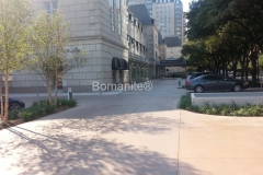 Texas Bomanite Exposed Aggregate Systems with Bomanite Alloy decorative concrete at the Crescent Hotel.