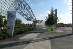 Texas Bomanite Exposed Aggregate Systems with Bomanite Sandscape deocrative concrete Texture at the Dallas Cowboy Stadium.