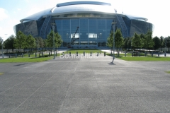 Texas Bomanite Exposed Aggregate Systems with Bomanite Sandscape Texture decorative concrete at the Dallas Cowboy Stadium.