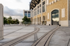 Texas Bomanite Exposed Aggregate Systems with Bomanite Sandscape Texture decorative concrete at Texas Christian University.