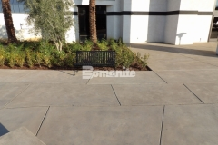 I love the decorative concrete surface that was created at CrossCity Christian Church using Bomanite Sandscape Refined Antico because it adds a beautiful, contemporary flair to this outdoor gathering space.