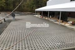 Grasscrete by Bomanite is a continuously reinforced, cast-in-place, pervious concrete solution that was expertly installed at this residence by our associate, Premier Concrete Construction, to reduce site runoff while accommodating large delivery vehicles.