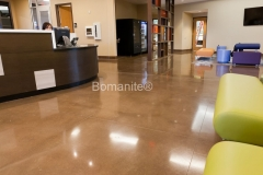 Texas Bomanite using Bomanite Custom Polishing Systems with Renaissance decorative concrete at Heights Recreation Center in Richardson Texas.