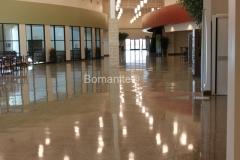 Texas Bomanite using Bomanite Custom Polishing Systems with Renaissance decorative concrete at The Prestonwood Baptist Church-North Campus in Prosper Texas.
