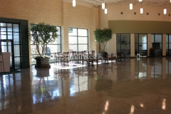 Texas Bomanite using Bomanite Custom Polishing Systems with Renaissance decorative concrete at The Prestonwood Baptist Church-North Campus in Prosper Texas.