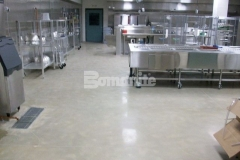 Bomanite Belcolore custom polished concrete was installed here as a low cost, low maintenance option that provides superior abrasion resistance and is perfect for this high traffic commercial space.