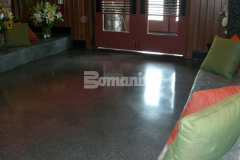 Bomanite Modena SL was installed here to combat wear and tear, add service life to these floors, and reduce costly maintenance while achieving a warm, rustic look with the blend of black, white, and red granite aggregates for a distinctive decorative effect.