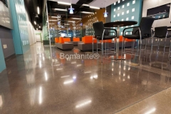 Texas Bomanite using Bomanite Custom Polishing Systems with Patene Teres decorative concrete at Compass Church Campus Center in Colleyville Texas.
