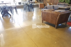 Bomanite Patene Teres custom polished concrete was the perfect choice to create a durable and decorative concrete flooring surface in the Northside Christian Church coffee house and blends seamlessly with the contemporary design aesthetic.