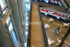 Texas Bomanite using Bomanite Custom Polishing Systems with Patene Teres decorative concrete at The Richards Group in downtown Dallas Texas.