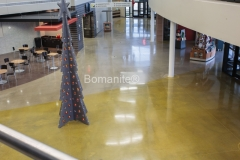 Texas Bomanite using Bomanite Custom Polishing Systems with Patene Teres at Preston Trail Community Church in Frisco, Texas.