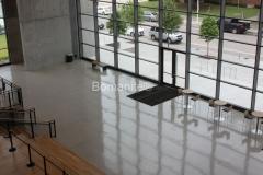 Texas Bomanite using Bomanite Custom Polishing Systems with VitraFlor decorative concrete at The Dallas City Performance Hall in Texas.