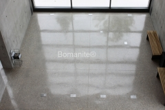 Texas Bomanite using Bomanite Custom Polishing Systems with VitraFlor decorative concrete at The Dallas City Performance Hall in Texas.