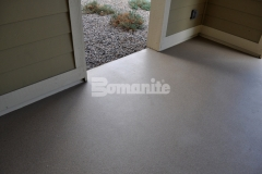 Bomanite Broadcast Aggregate is a multi-layered architectural and protective flooring system that was used here to create long-lasting, highly durable concrete breezeways and entryways throughout this apartment complex.