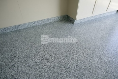 Bomanite Broadcast Flake is a zero VOC fast track flooring system that can be applied over prepared concrete and suitable cementitious toppings to form a seamless surface ideal for residential and light commercial applications such as garage floors, basements, indoor recreational facilities, schools, and light manufacturing.