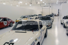 Bomanite Florspartic 100 in the color white was chosen to complement this large car collection, creating a sleek, bright white overall design.