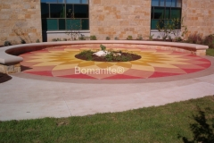 Texas Bomanite using Bomanite Toppings Systems with Micro-Top XT decorative concrete at Dell Children's Hospital in Austin, Texas.
