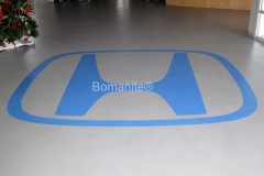 Texas Bomanite using Bomanite Toppings Systems with Micro-Top XT decorative concrete at First Texas Honda in Austin, Texas.