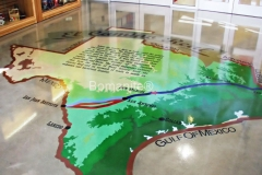 Texas Bomanite using Bomanite Toppings Systems with Micro-Top decorative concrete at El Camino School in Texas.