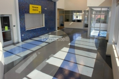 Texas Bomanite using Bomanite Toppings Systems with Micro-Top decorative concrete at The Midland Natatorium in Midland, Texas.