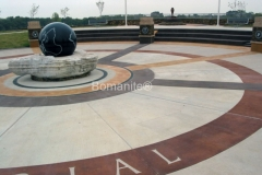 Texas Bomanite using Bomanite Toppings Systems with Patene Artectura decorative concrete at McKinney Park in Texas.