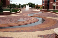 Texas Bomanite using Bomanite Toppings Systems with Patene Artectura decorative concrete at Baylor Science in Texas.