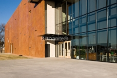 Texas Bomanite using Bomanite Toppings Systems with Patene Artectura decorative concrete at Watermark Church in Texas.